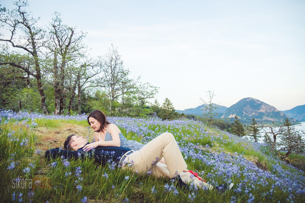wild flowers engagement