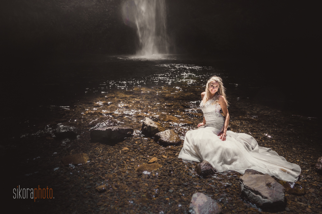 columbia gorge water fall trash the dress-14