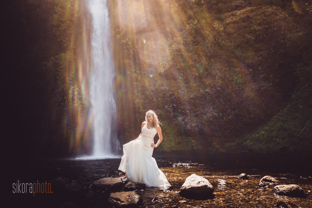 columbia gorge water fall trash the dress-9